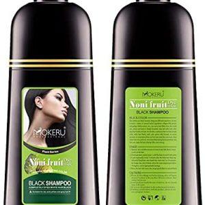 MOKERU NONI FRUIT BLACK HAIR DYE SHAMPOO 500 ML