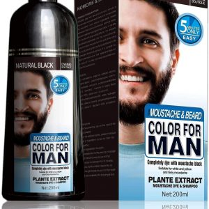MOKERU Professional Men's Mustache & Beard Black Hair Color Dye Shampoo: Plant Extract All Natural Instant Fast Acting 5 Minutes Color Dye Black: DESCRIPTION: It is just like shampoo which is specially made for men. Morkeru will transform your hair into pure black color within 5 minutes. You just need to shampoo your hair in a simple way of shampoo. The ingredients used in it will nourish your skin and protect your hair from damage and roughness. It is made up of nontoxic substances with high-quality formulation technology. For more information visit our site Khybermart.com BENEFITS: 1. It will dye your hair in black within 5 minutes. 2. Usage of this formula will make your hair strong and straight. 3. It will help to protect your scalp and makes your skin regenerate. 4. It will avoid damage to hair and repair rough hairs. 5. It is a very cheap product to dye your hair in a small amount of time. DOSAGE: Wash your hair with this shampoo and gently massage your scalp for just 5 minutes. Then wash your hair with water and see the results in 10 minutes.